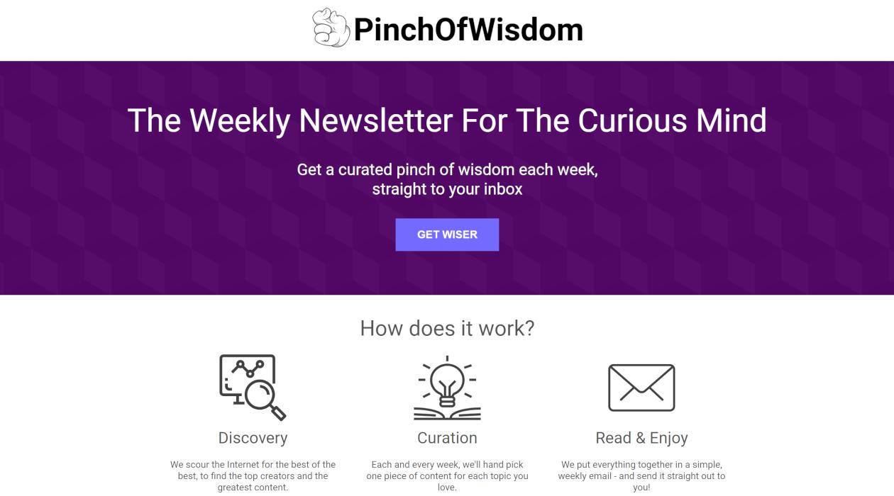 PinchOfWisdom newsletter image