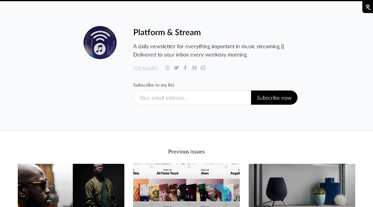 Platform & Stream newsletter image