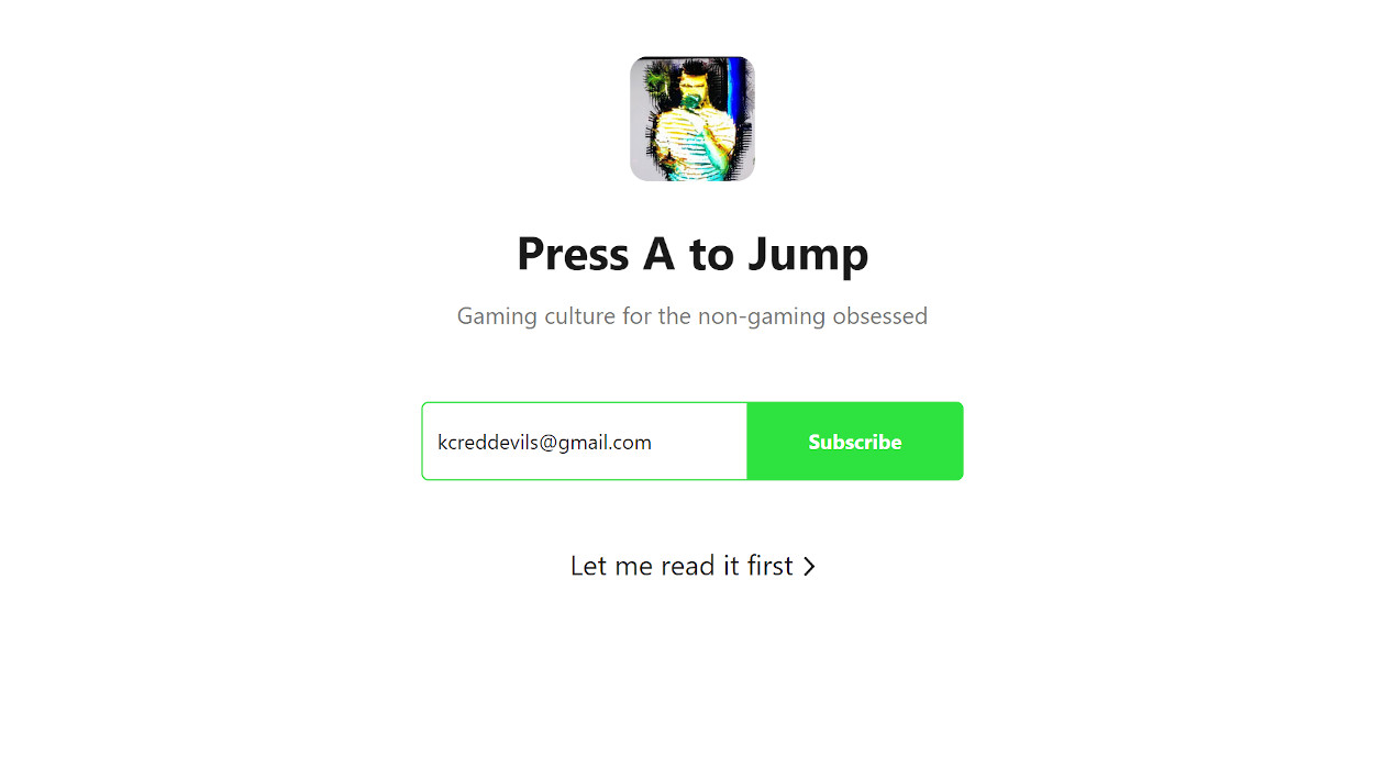 Press A to Jump newsletter image