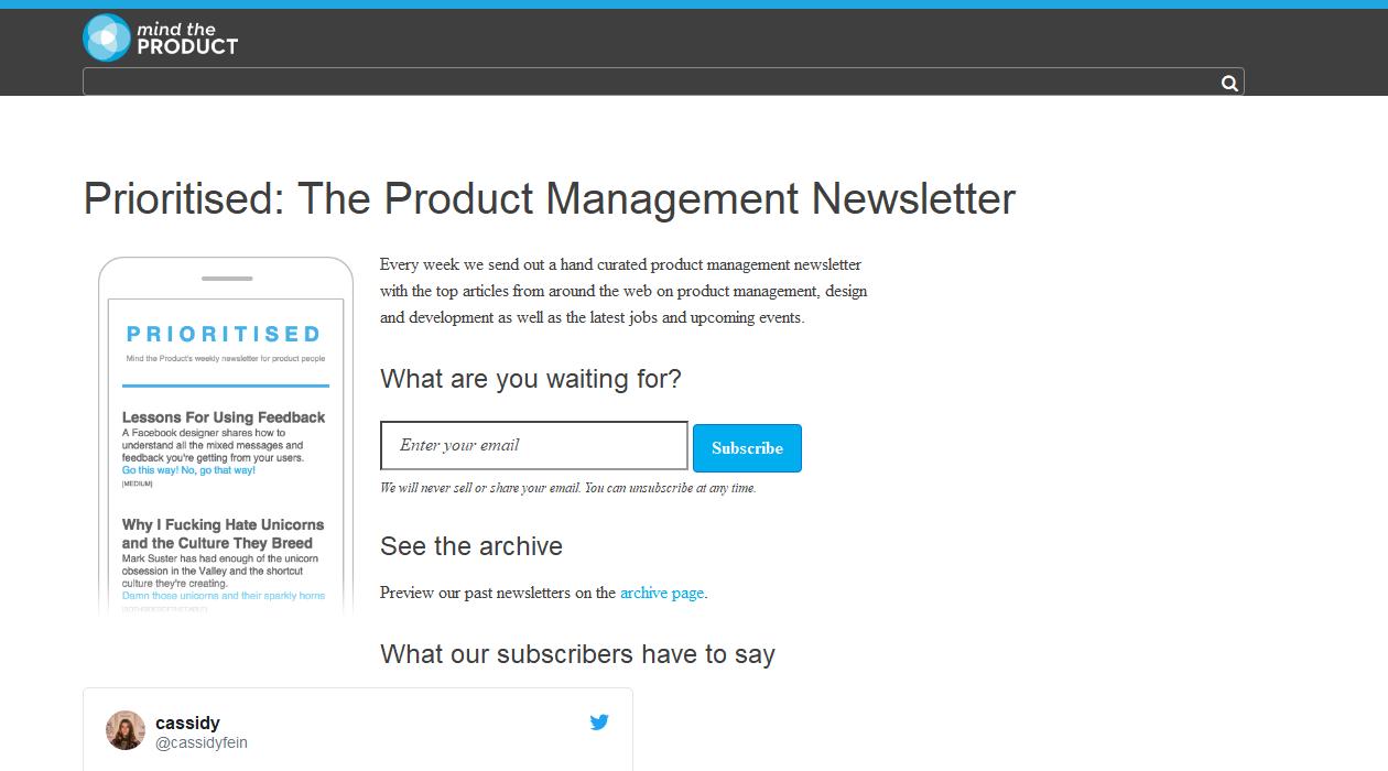 Prioritised newsletter image