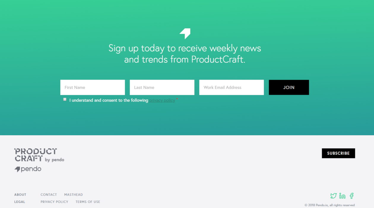 Product Craft by Pendo newsletter image