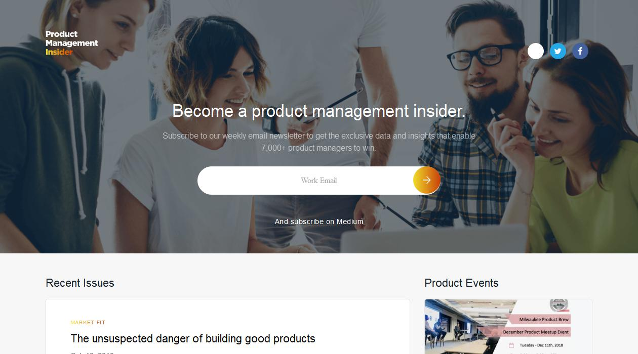 Product Management Insider newsletter image