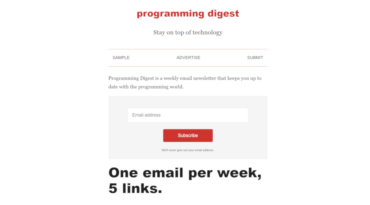 Programming Digest newsletter image