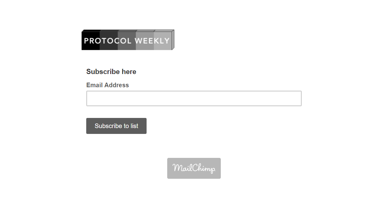 Protocol Weekly newsletter image