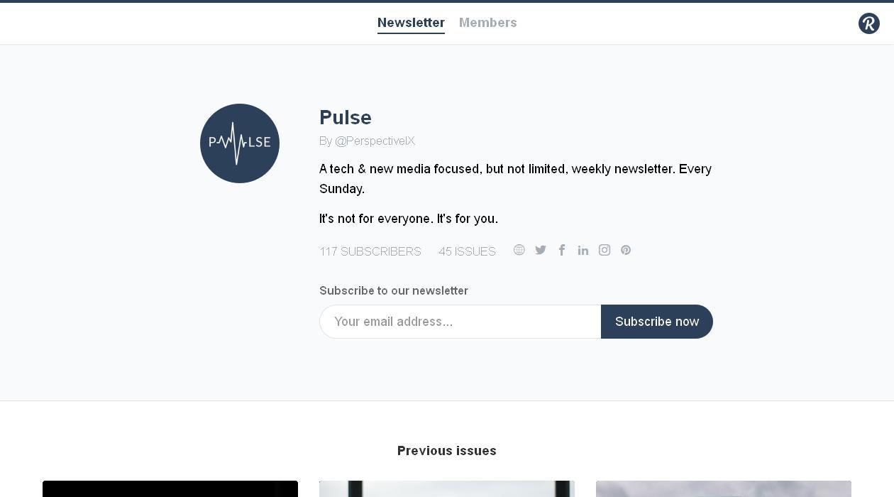 Pulse newsletter image