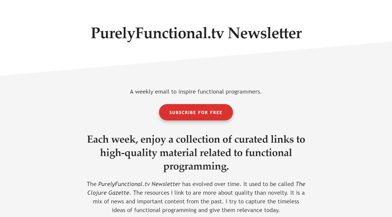 PurelyFunctional.tv newsletter image