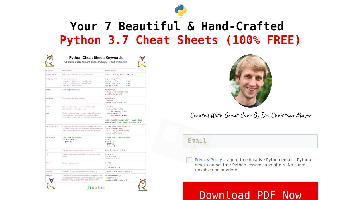 Python Email Academy newsletter image