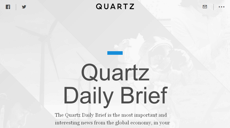 Quartz Daily Brief newsletter image