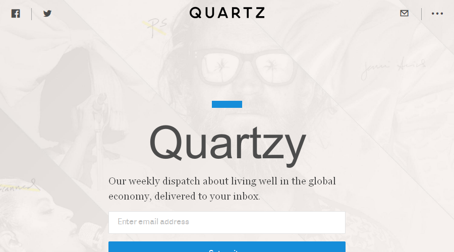 Quartzy newsletter image