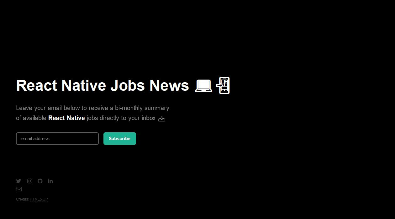 React Native Jobs newsletter image