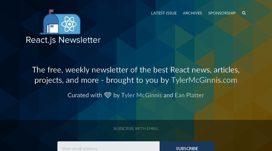 React.js Newsletter newsletter image