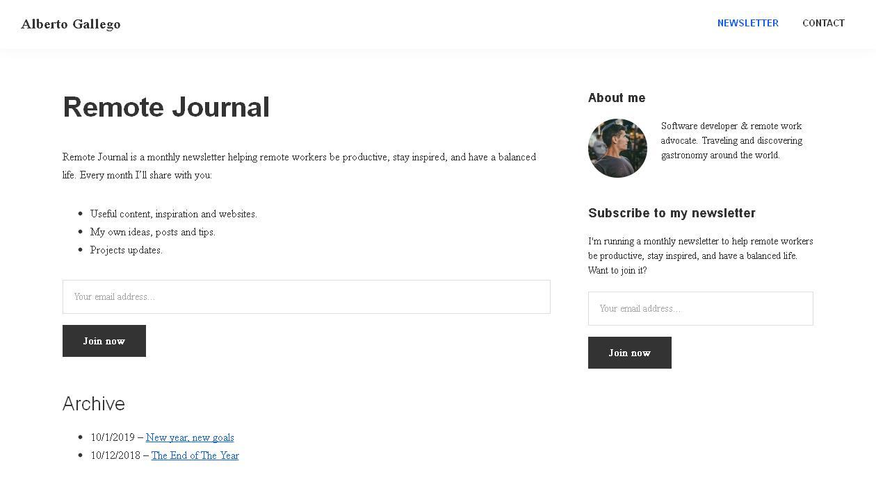 Remote Journal newsletter image