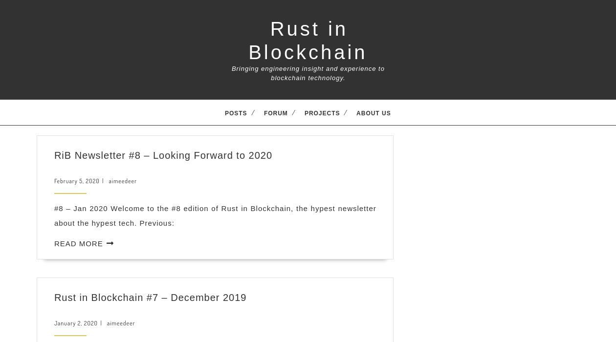 Rust in Blockchain newsletter image