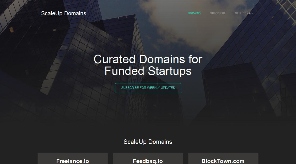 ScaleUp Domains newsletter image
