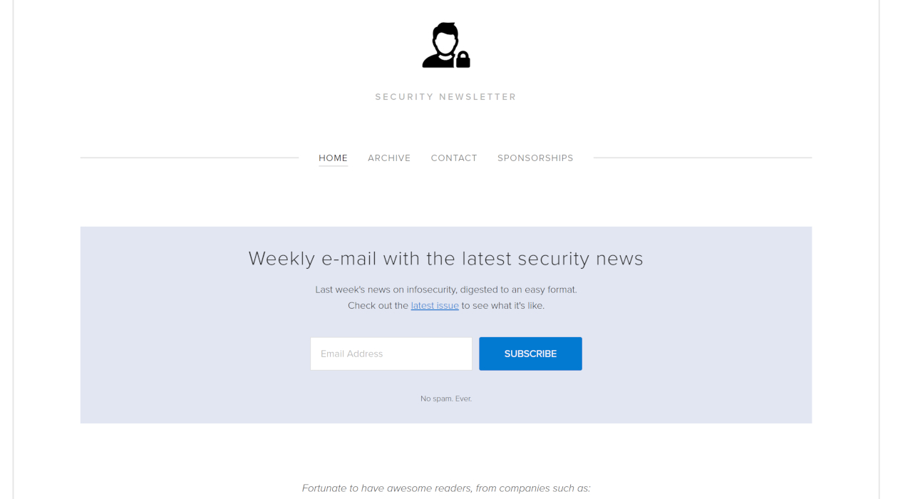 Security Newsletter newsletter image