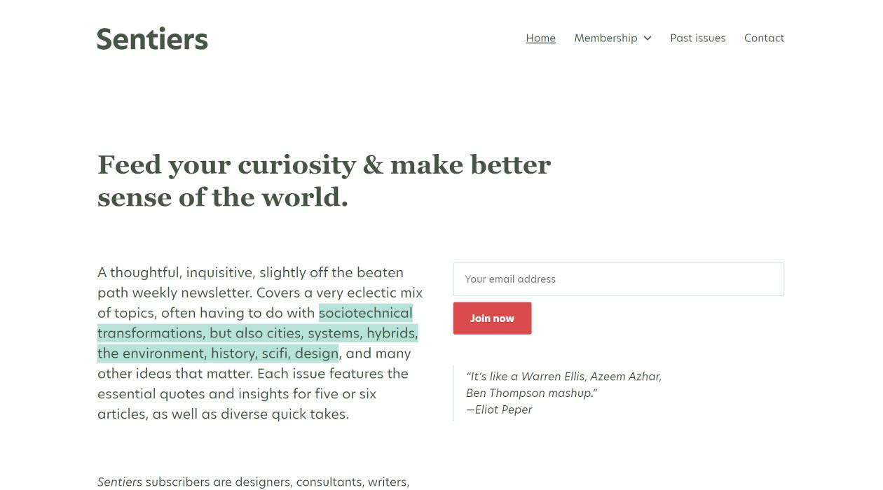 Sentiers newsletter image