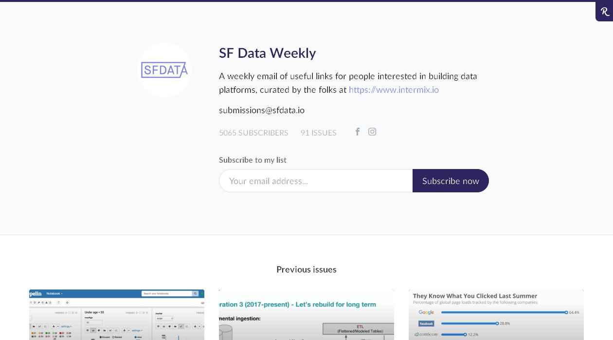 SF Data Weekly newsletter image