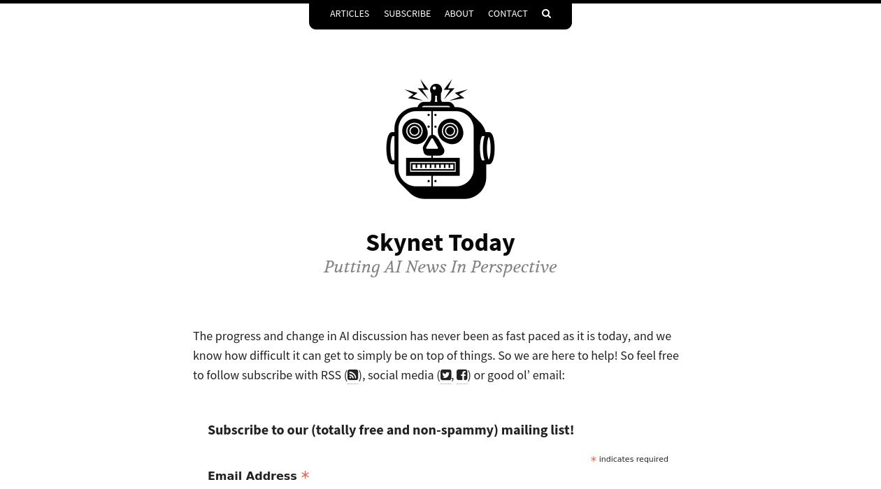 Skynet Today newsletter image