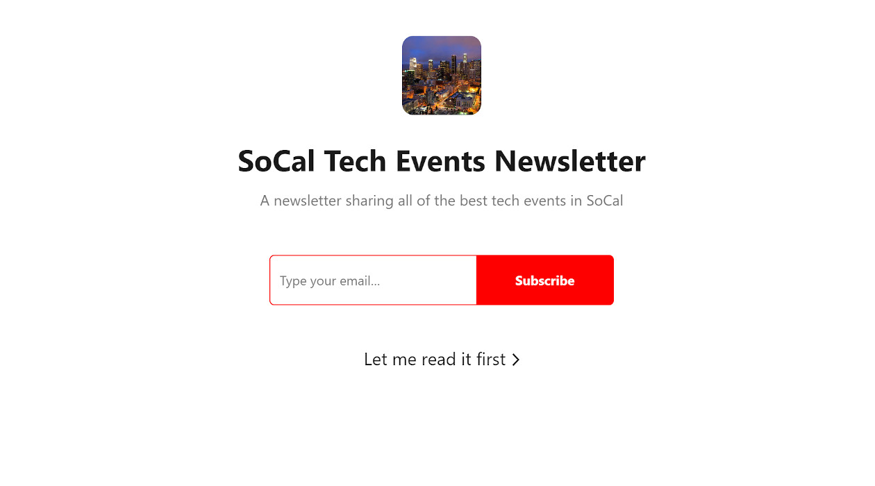SoCal Tech Events newsletter image