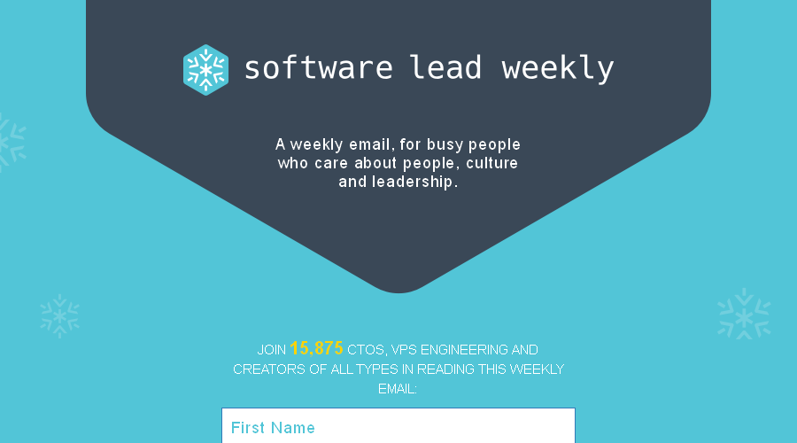 Software Lead Weekly newsletter image