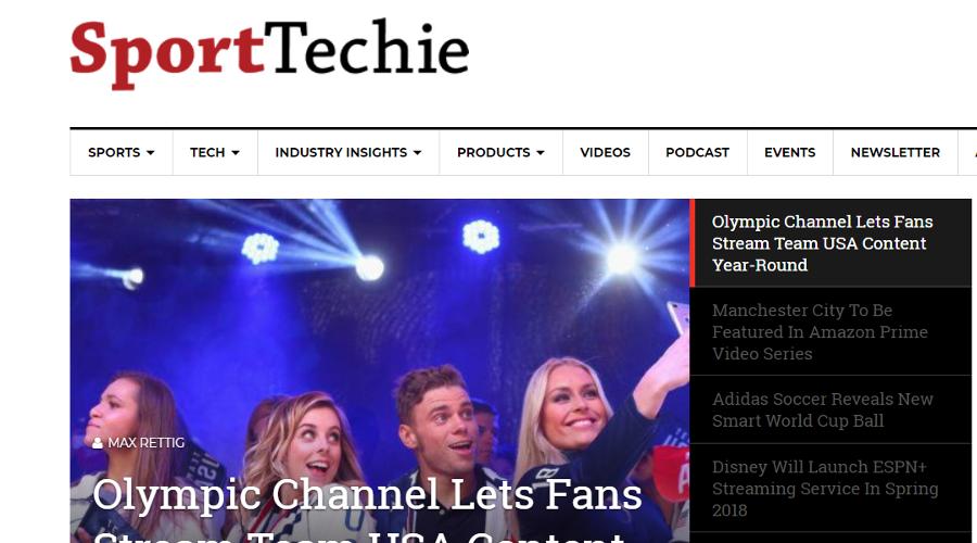 SportTechie newsletter image