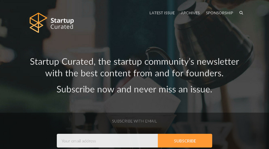 Startup Curated newsletter image