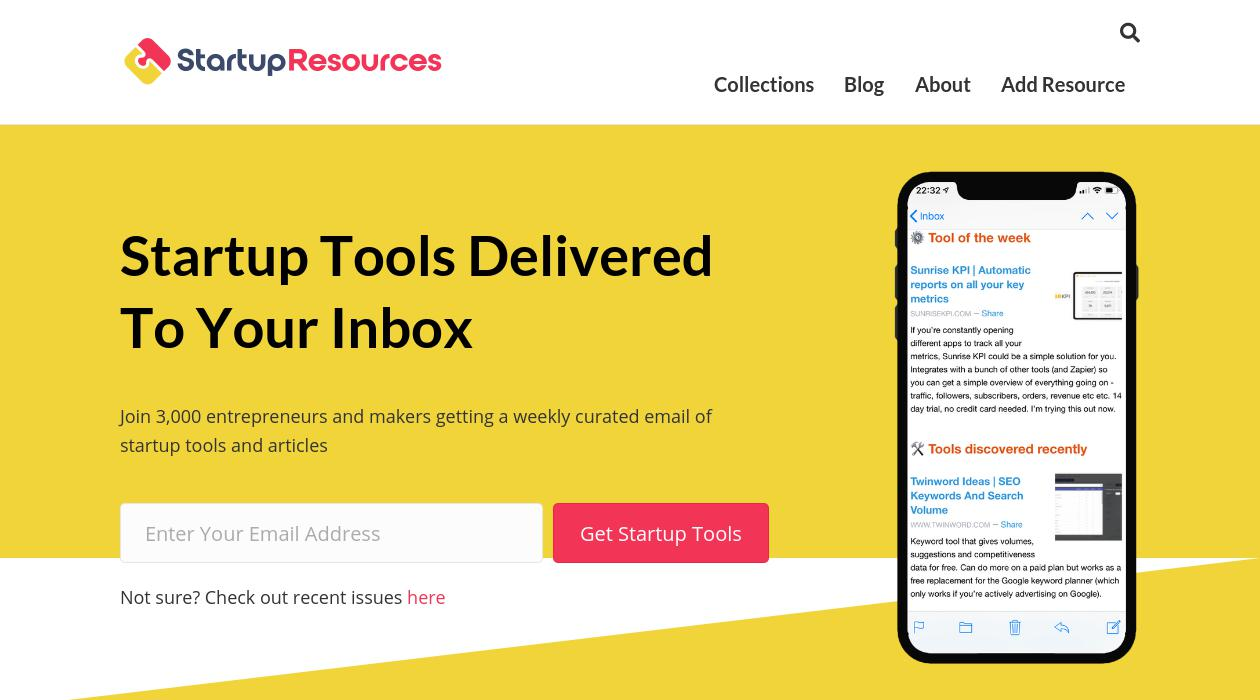 Startup Resources newsletter image