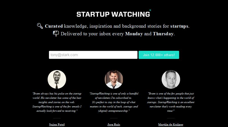 StartupWatching newsletter image