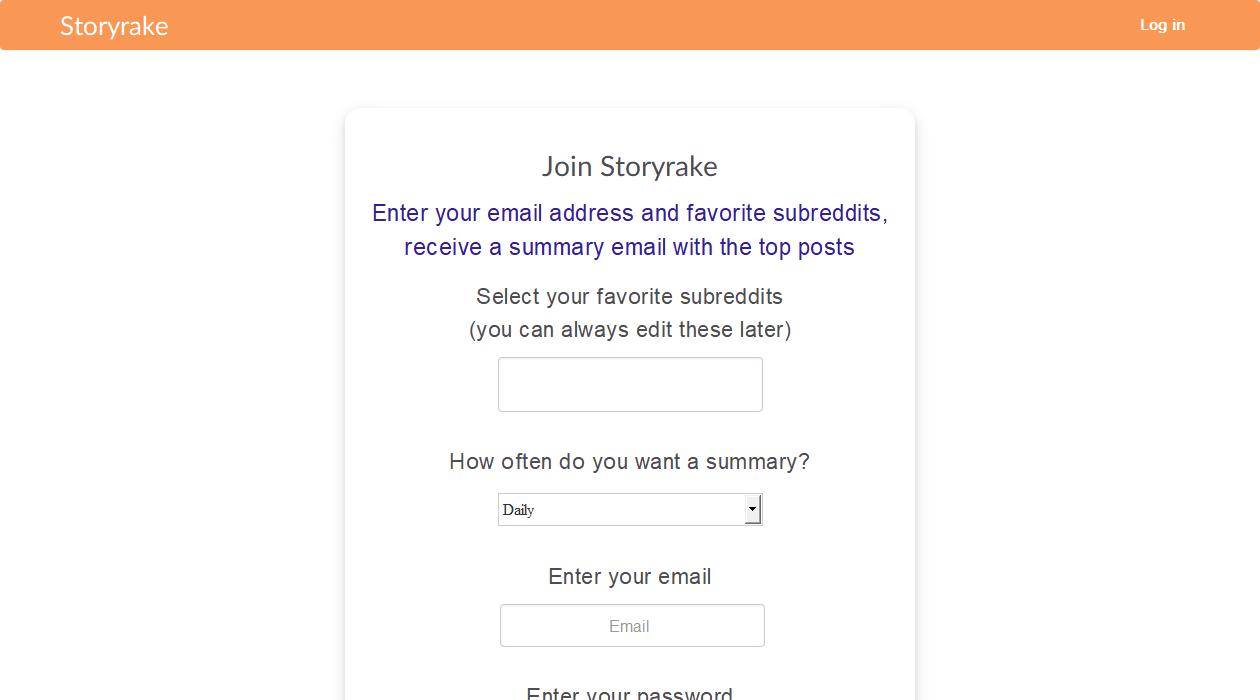 Storyrake newsletter image