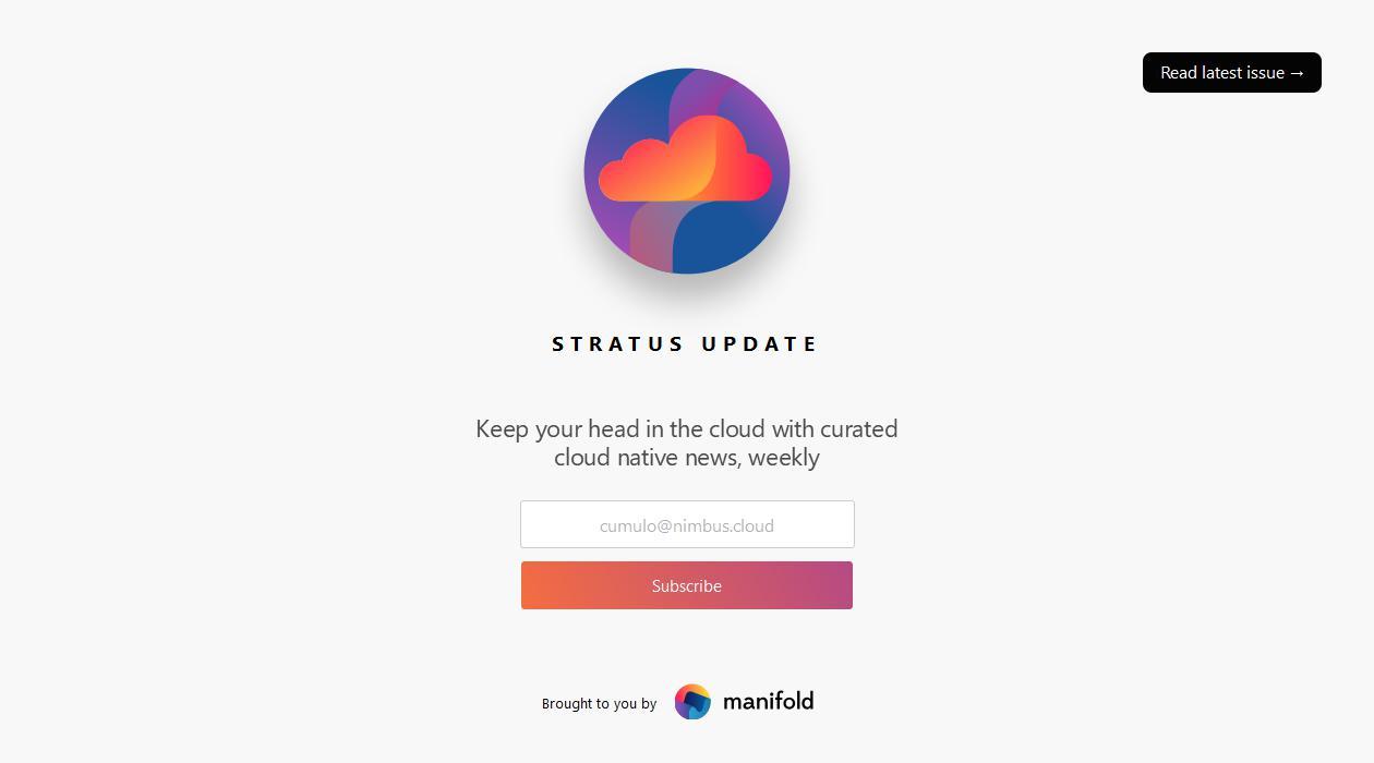 Stratus Update newsletter image