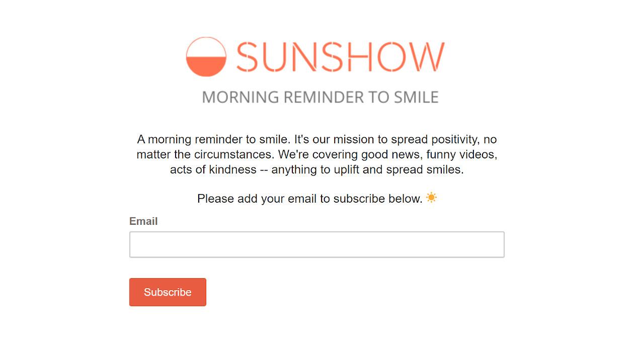 SunShow newsletter image