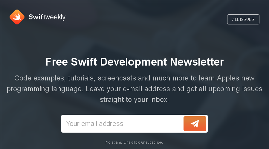Swift Weekly newsletter image