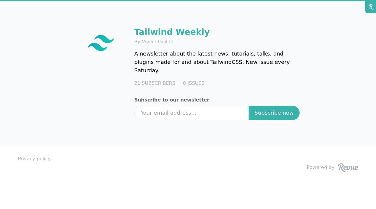 Tailwind Weekly newsletter image