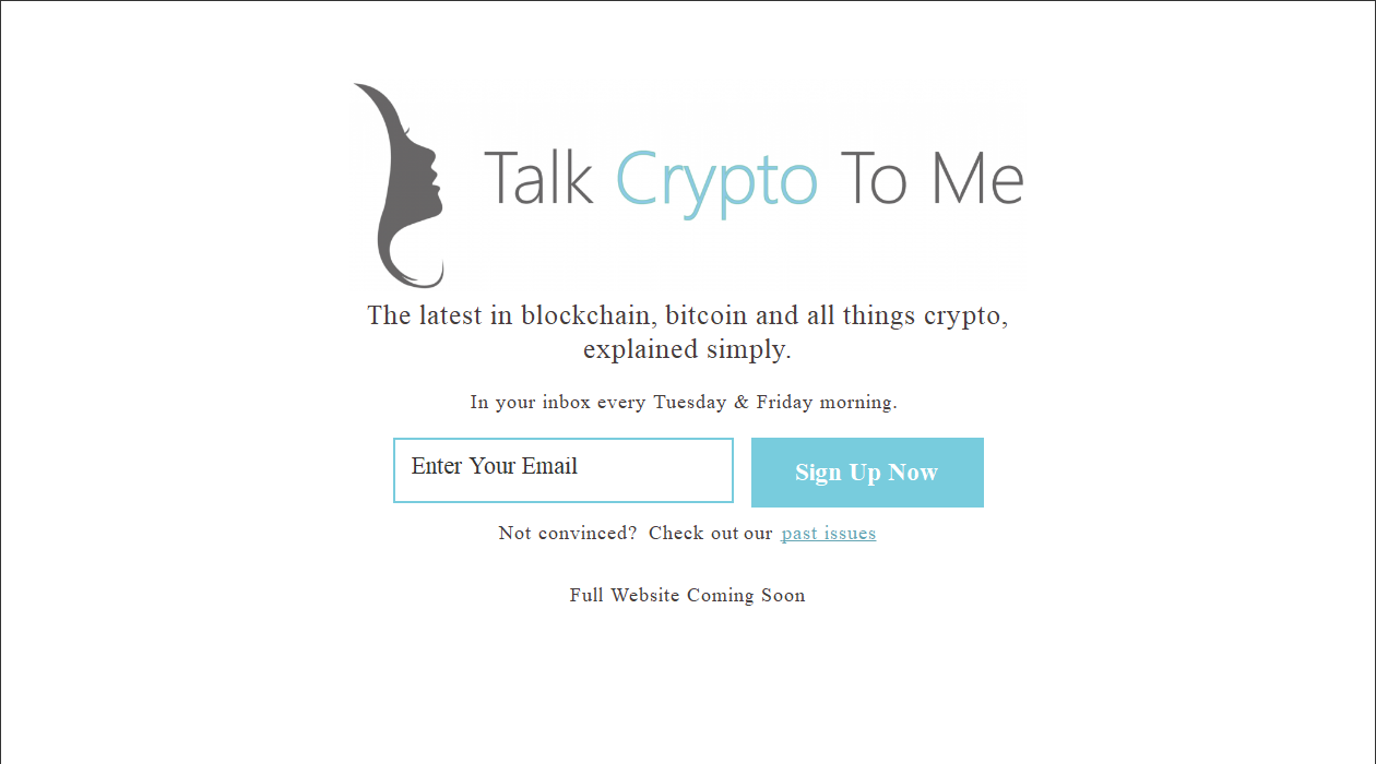 Talk Crypto To Me newsletter image