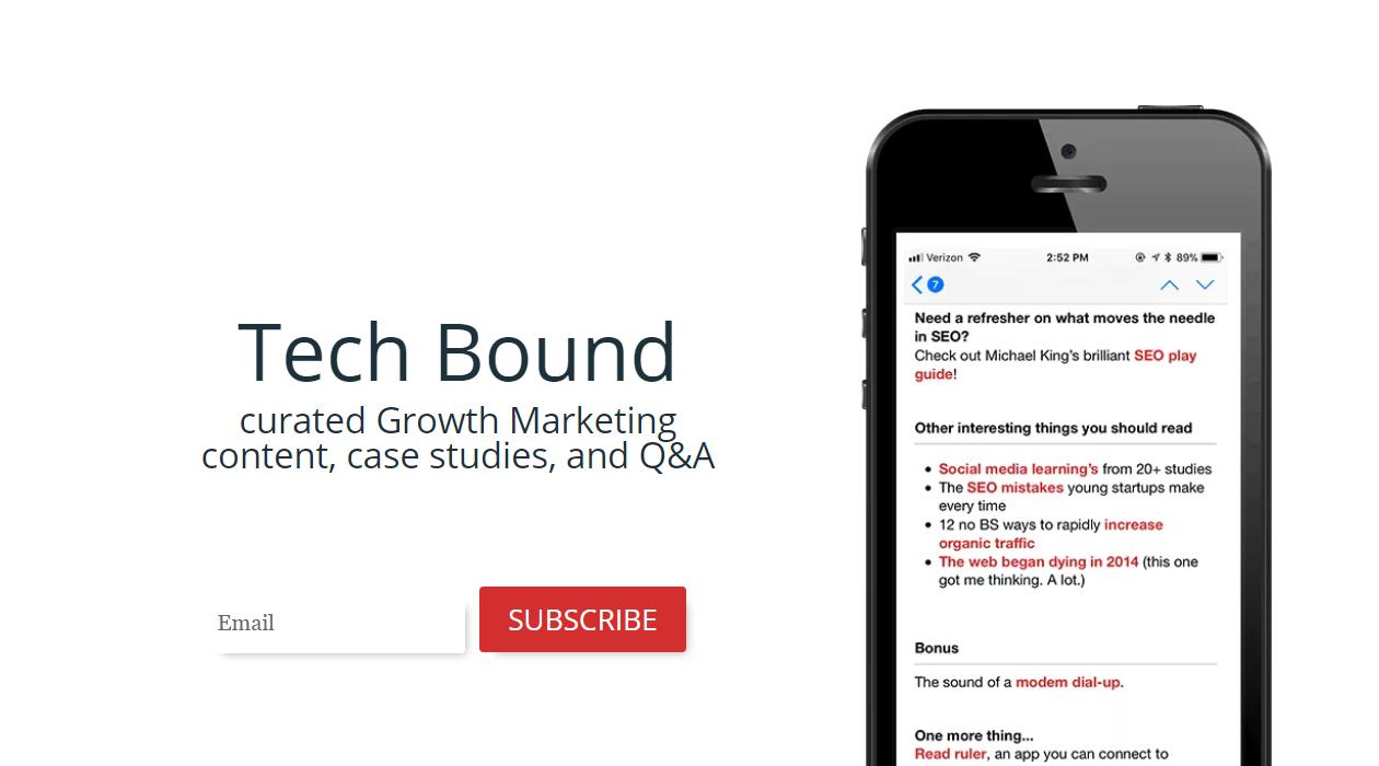 Tech Bound newsletter image