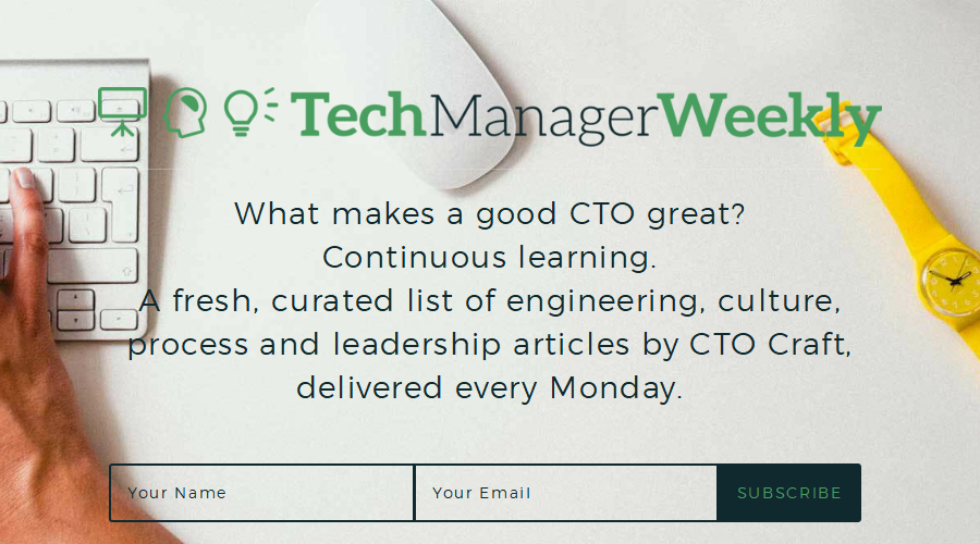 Tech Manager Weekly newsletter image