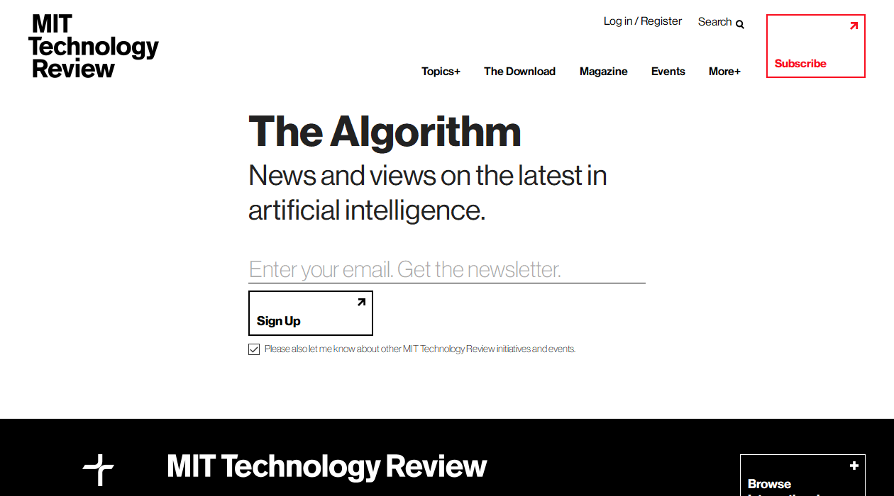 The Algorithm newsletter image