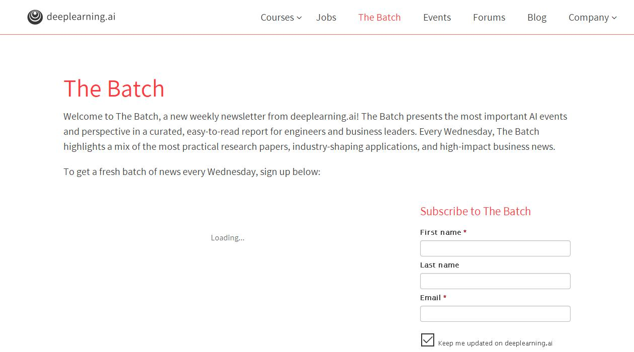 The Batch newsletter image