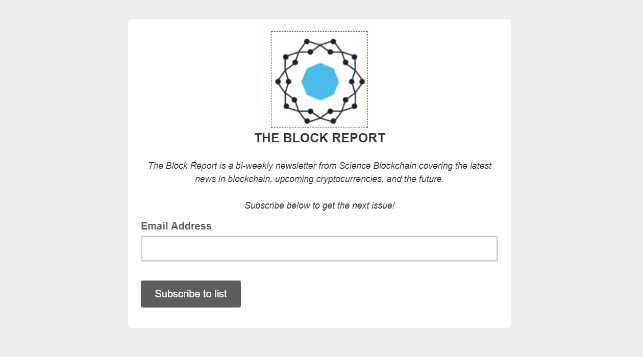 The Block Report newsletter image