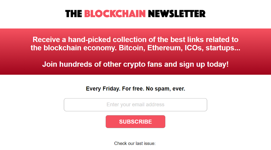 The Blockchain Newsletter newsletter image