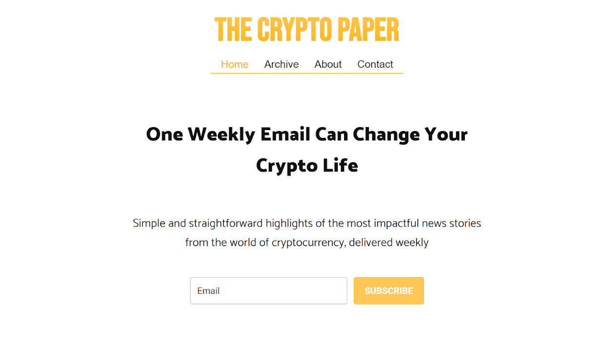 The Crypto Paper newsletter image