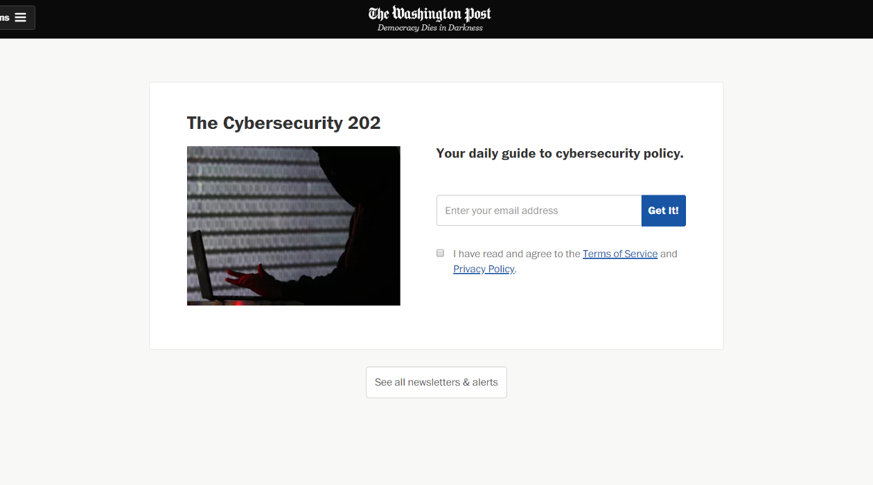The Cybersecurity 202 newsletter image