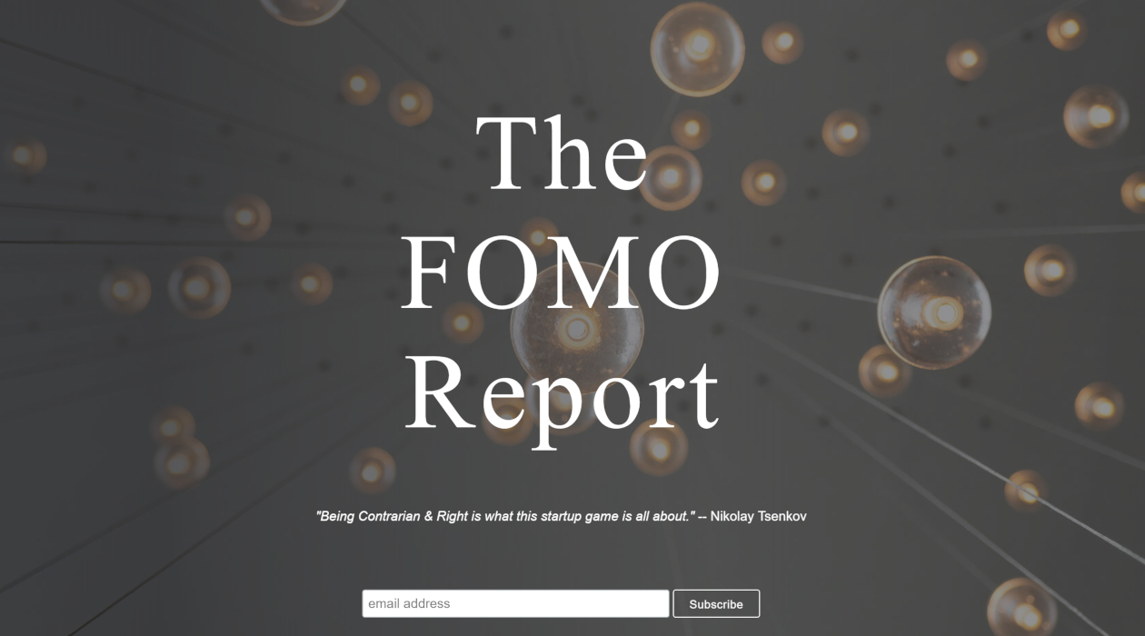 The FOMO Report newsletter image