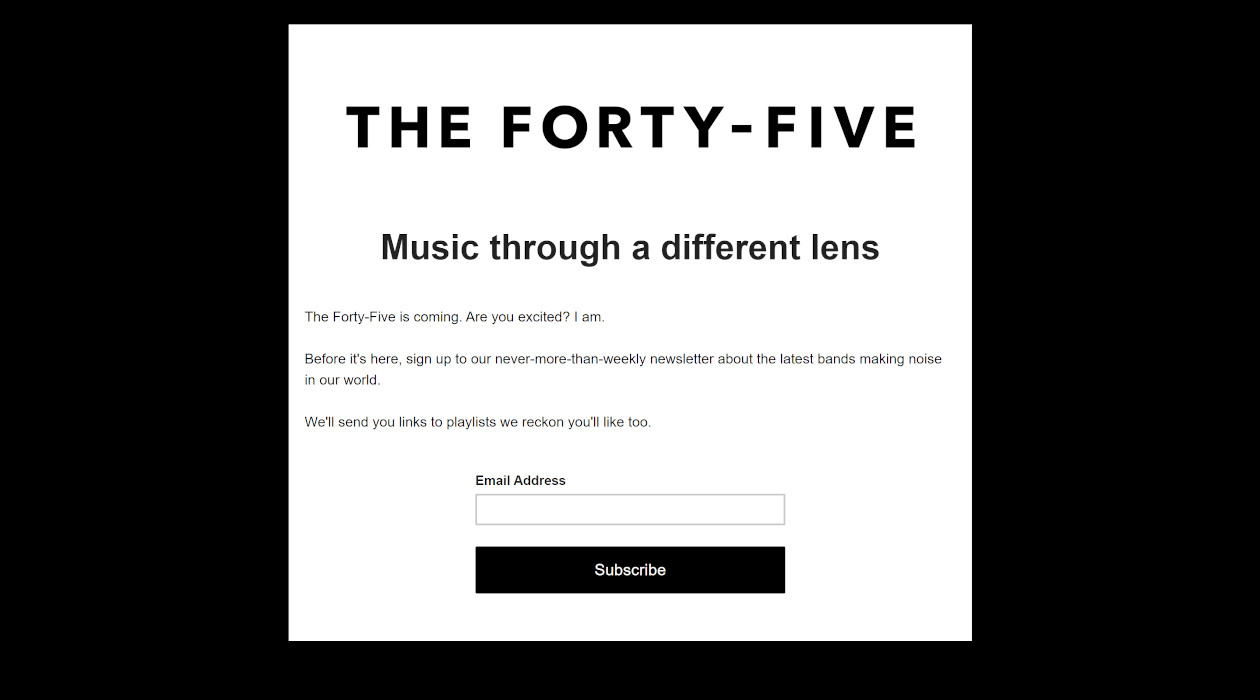 The Forty-Five newsletter image