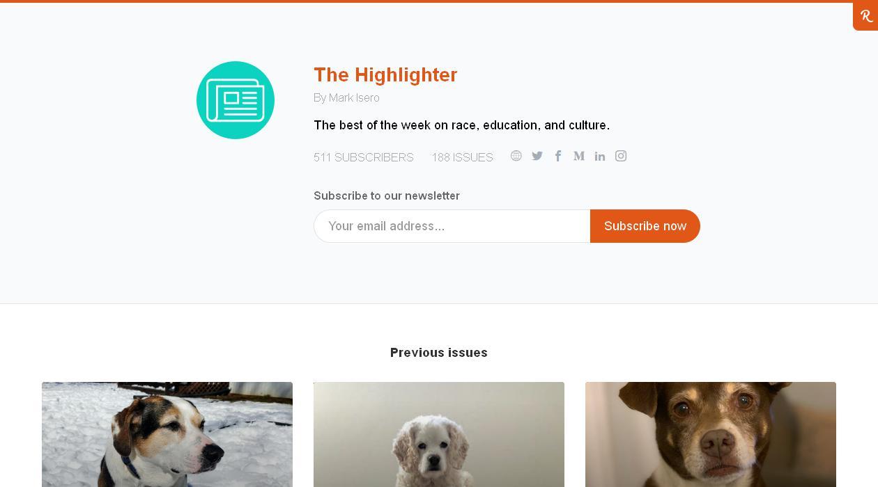 The Highlighter newsletter image