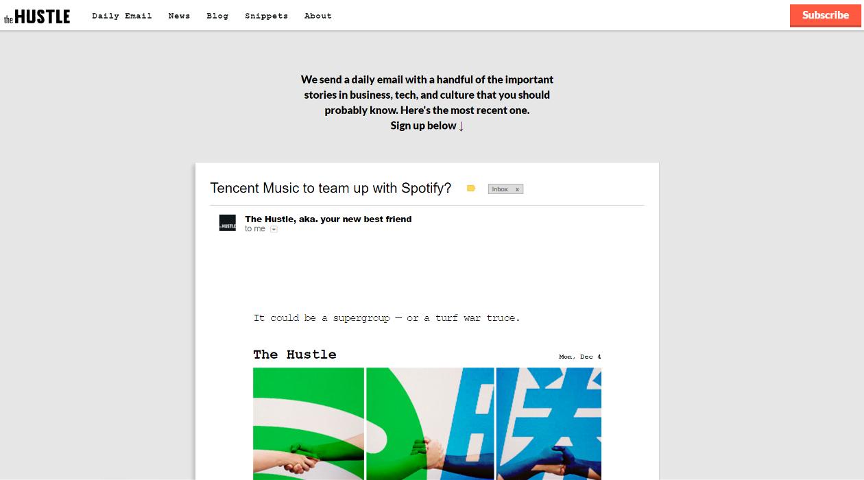 The Hustle newsletter image