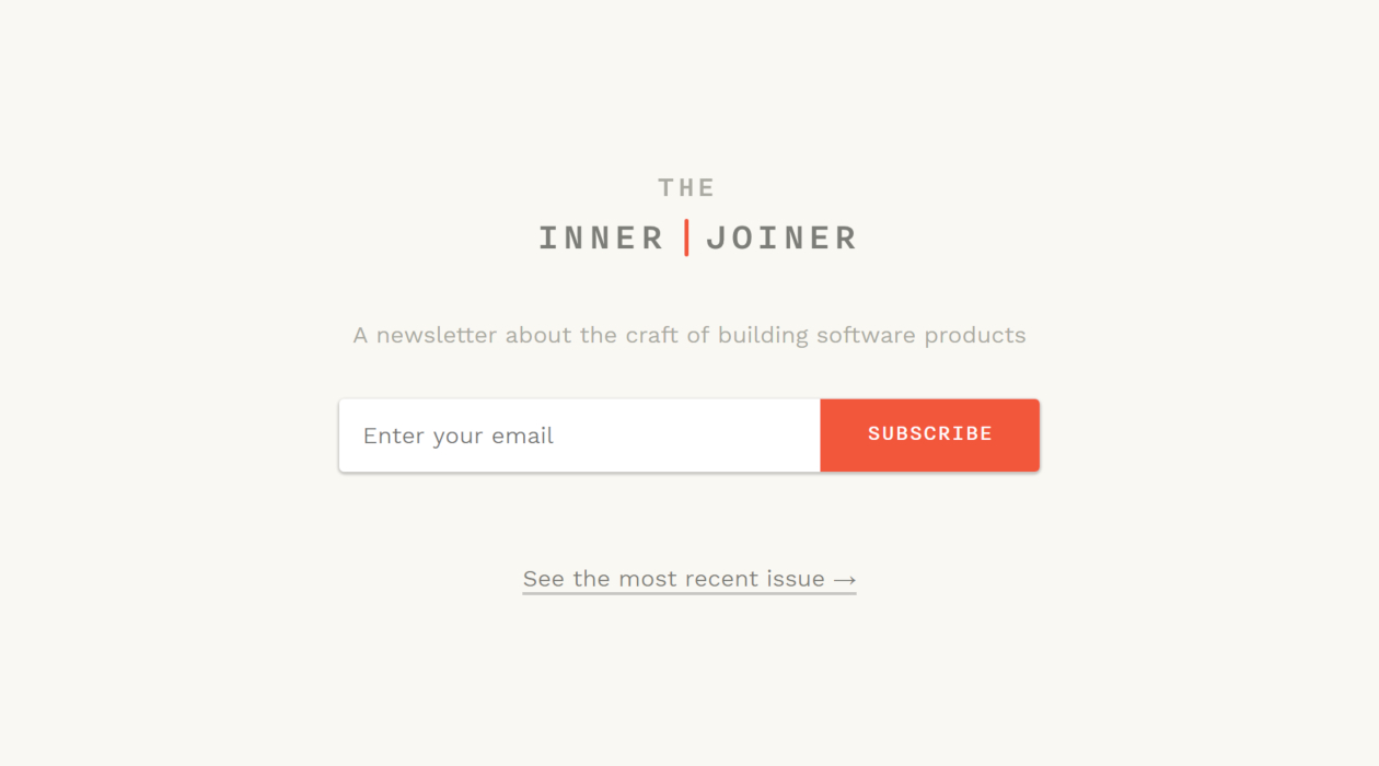 The Inner Joiner newsletter image