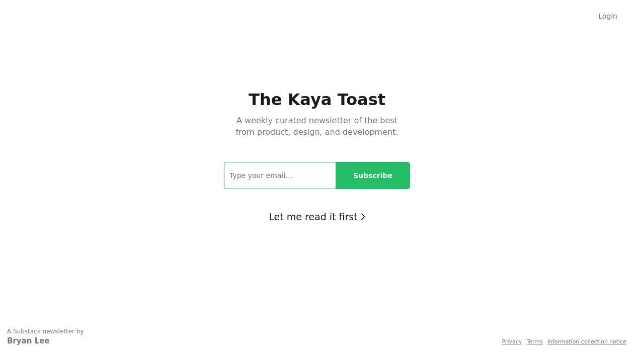 The Kaya Toast newsletter image