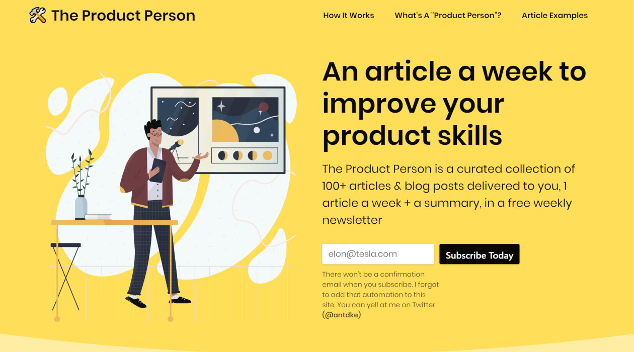 The Product Person newsletter image