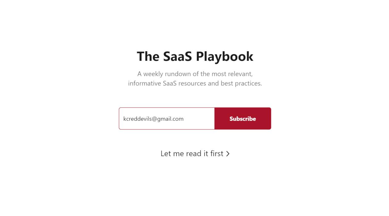 The SaaS Playbook newsletter image